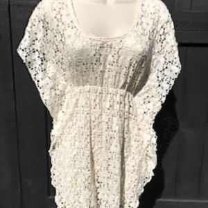 ELIF Tops - ELIF Jordan Taylor Cream Lace Swimsuit cover XS